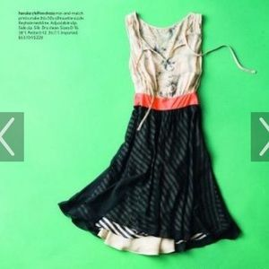 Anthropologie Maeve Haruka Silk Chiffon Dress